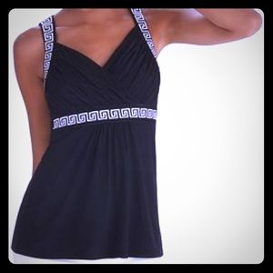 WHBM Embroidered Tank